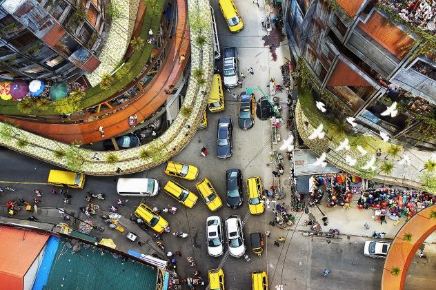Lagos Street Aerial