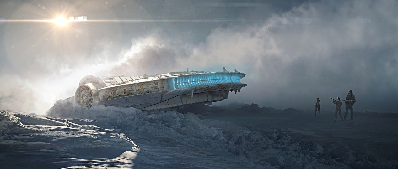 The Millennium Falcon crashed on Starkiller Base