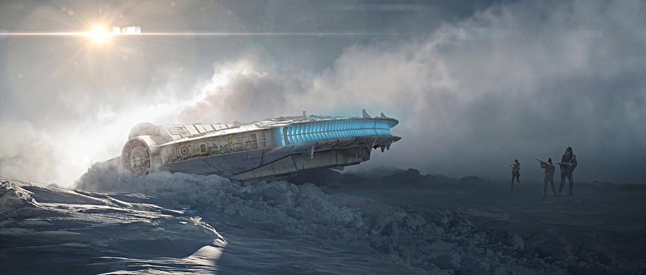 The Millennium Falcon crashed on Starkiller Base