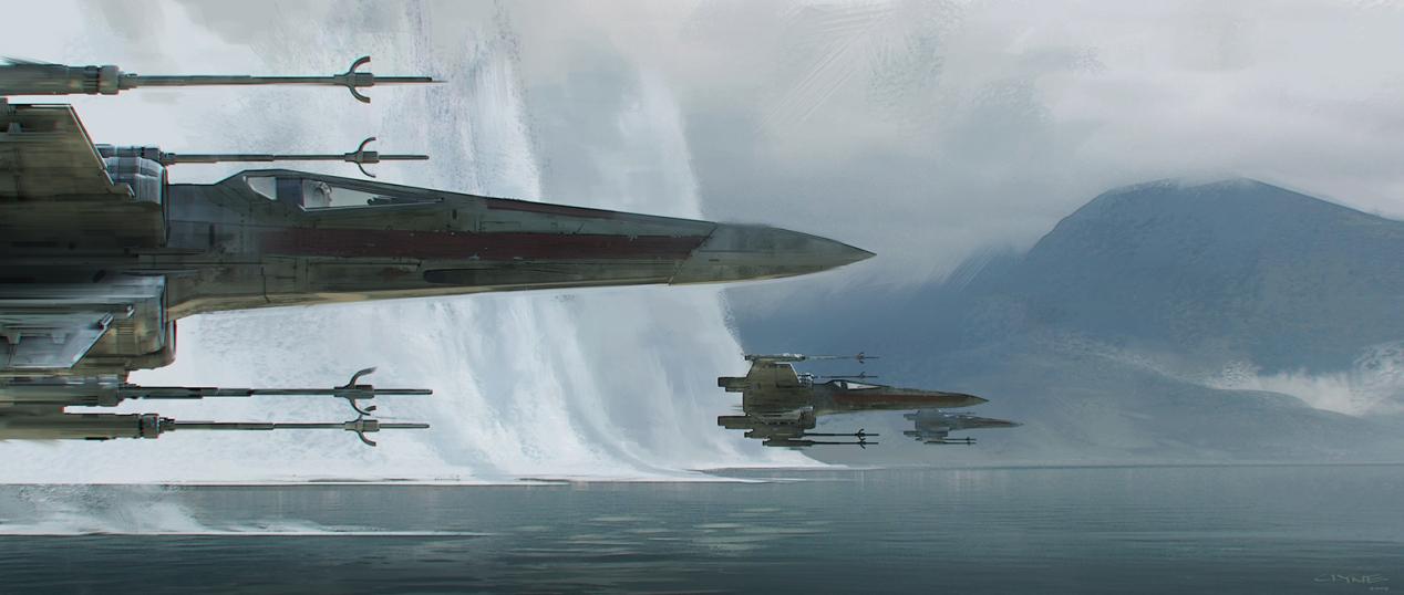 X-Wings arrive at Takodana