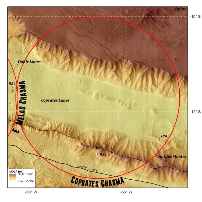Mars-ez-coprates chasma