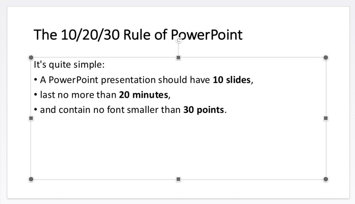 The 10/20/30 Rule of PowerPoint