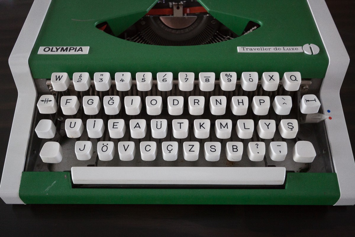 A Turkish typewriter