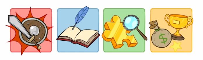 Combat, narrative, puzzle, reward