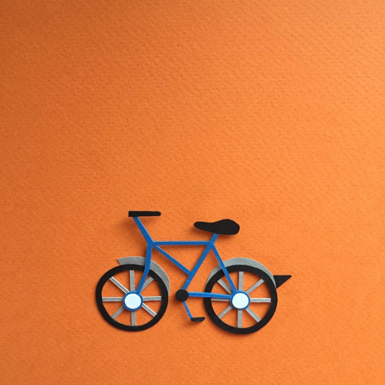 Paper emoji - bike