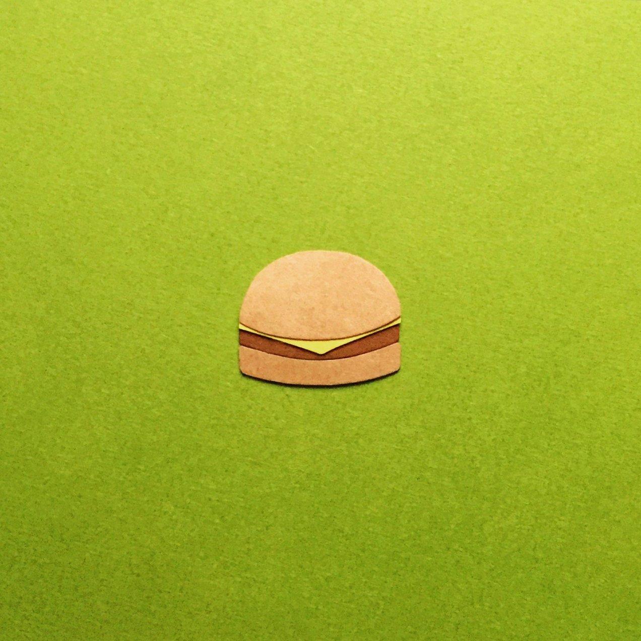 Paper emoji - burger