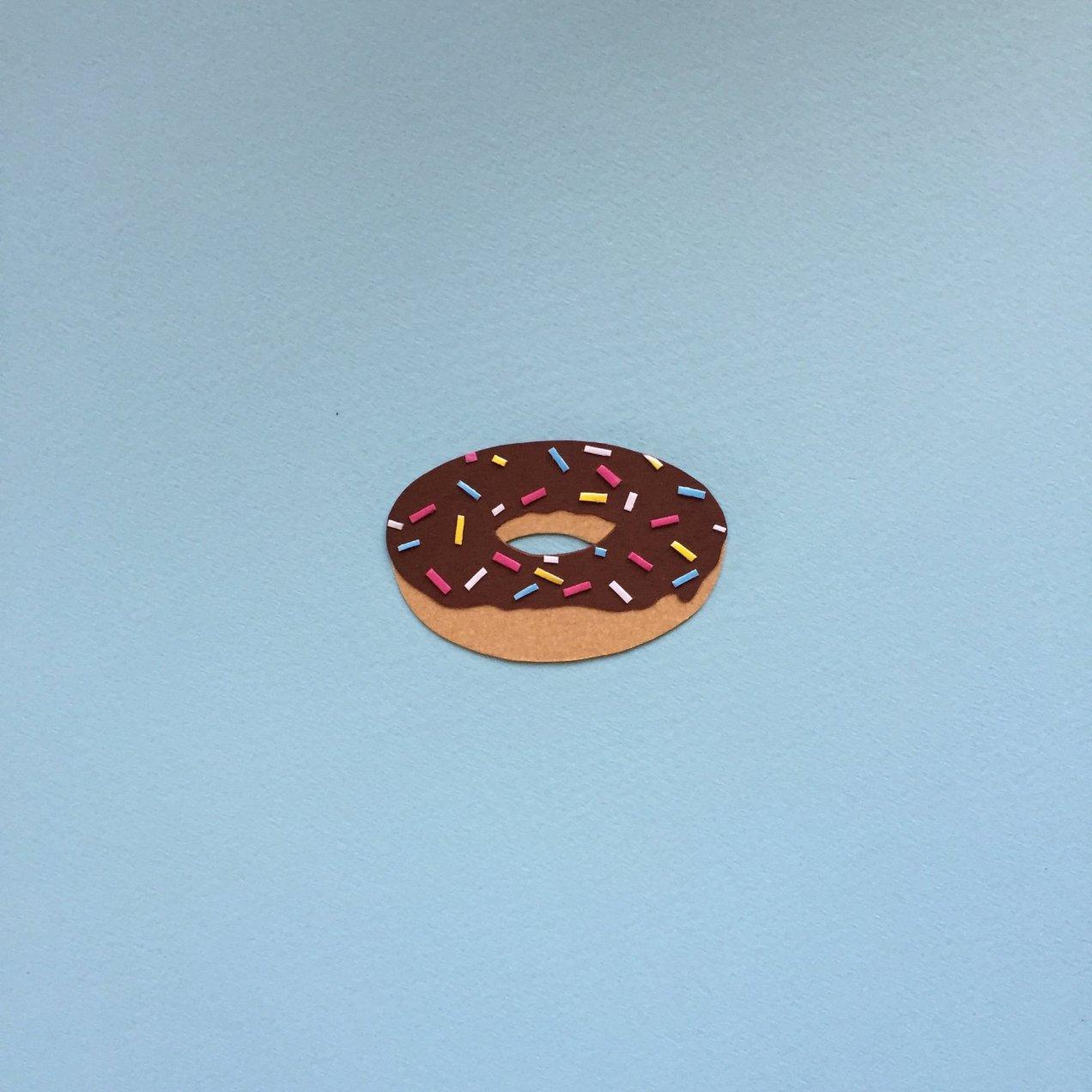 Paper emoji - donut
