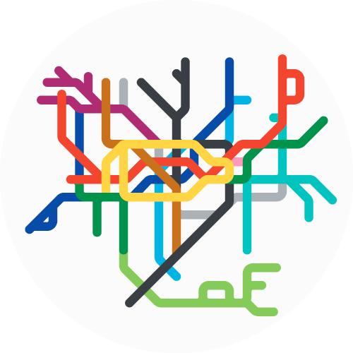 London mini metro map