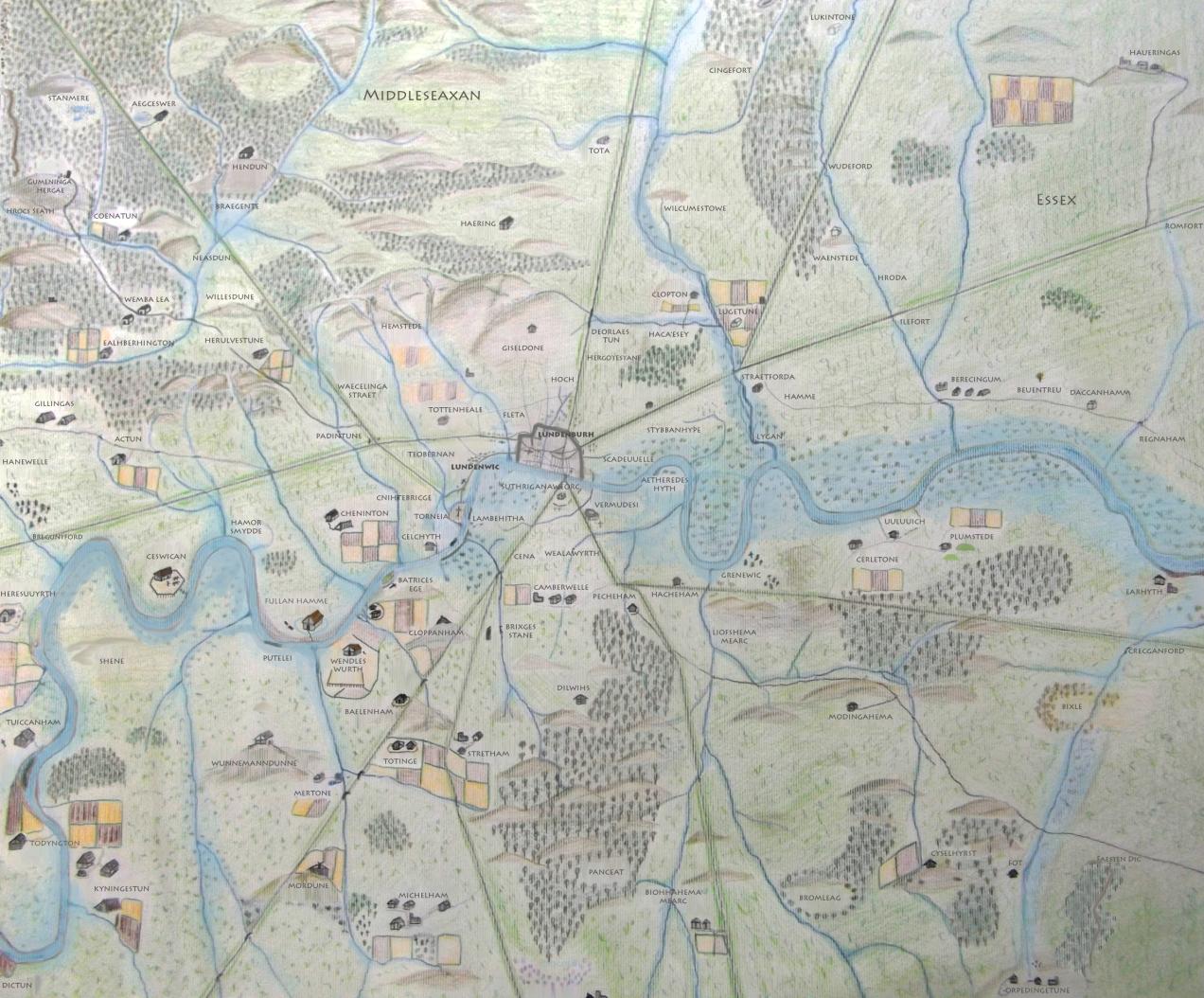 Anglo Saxon London Map