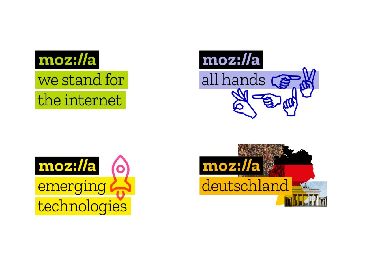 Mozilla logo variants