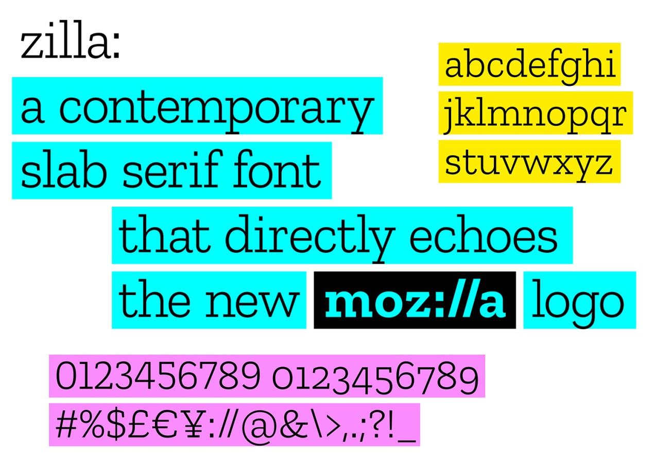 Mozilla bespoke typeface