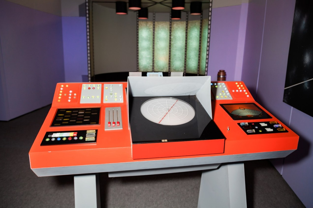 Original Enterprise transporter room set