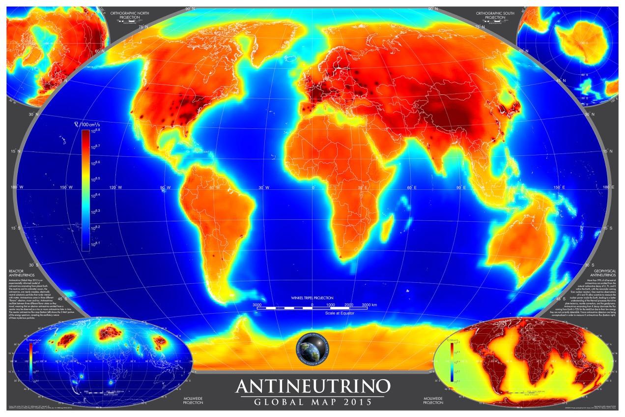 Antineutrino Global Map 2015