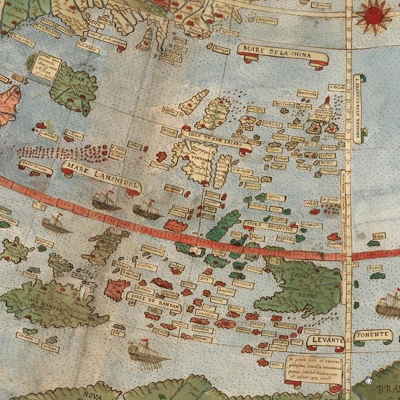 Urbano Monte map - South China Sea