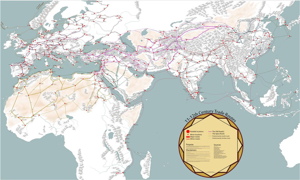 Medieval Trade Routes and Geography