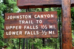 Johnston Falls sign