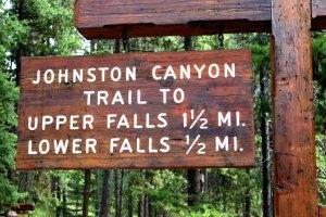 Johnston Falls sign