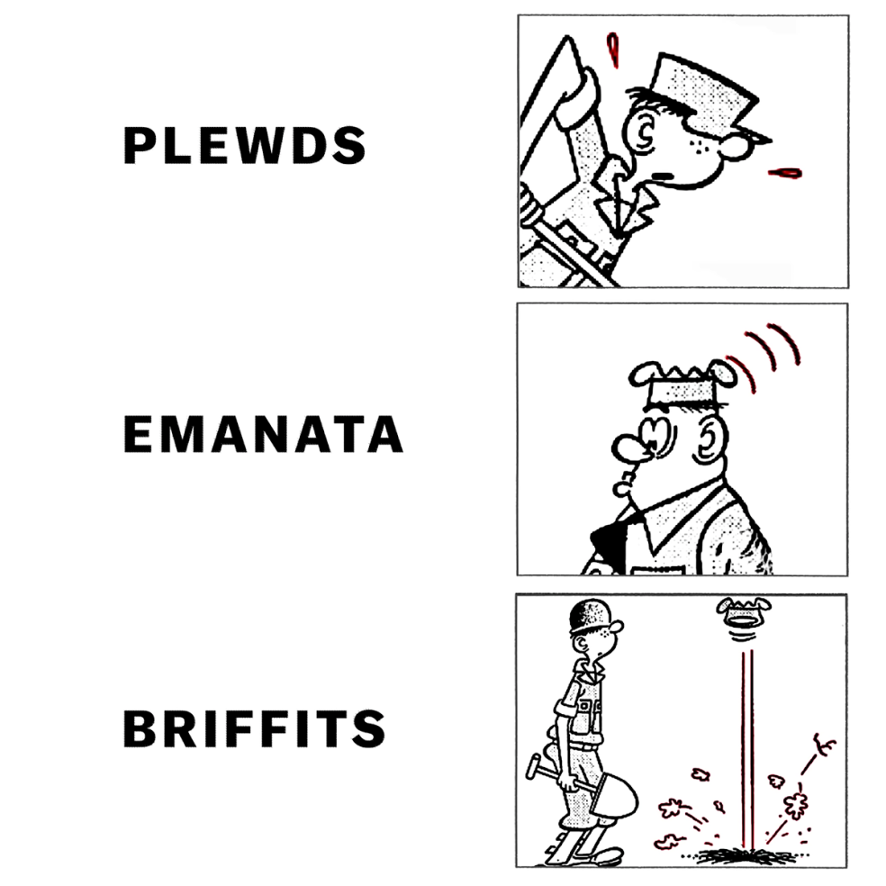 Plewds, emanata and briffits